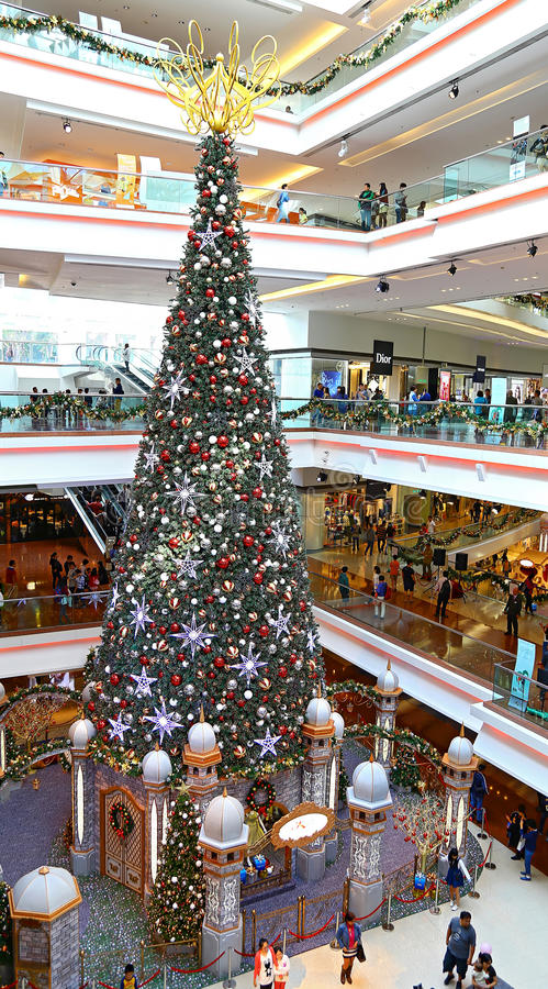 Λεωφόρος περιπάτων φεστιβάλ χριστουγεννιάτικων δέντρων, Χογκ Κογκ στοκ φωτογραφίες