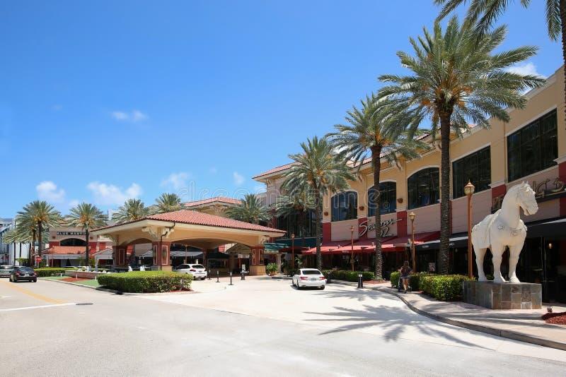 Λεωφόρος Galleria στο Fort Lauderdale στοκ φωτογραφίες