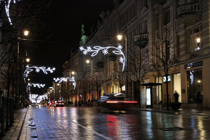 Λεωφόρος Gediminas σε Vilnius στοκ φωτογραφία