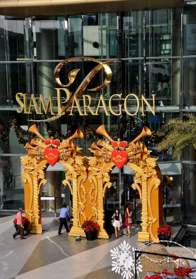 λεωφόρος paragon ψωνίζοντας Σιάμ Ταϊλάνδη της Μπανγκόκ στοκ φωτογραφία