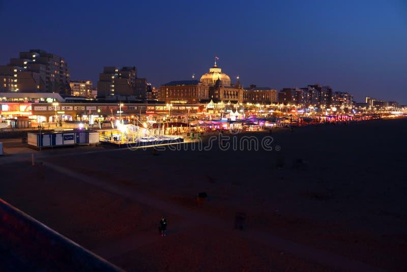 Λεωφόρος Scheveningen Nightshot στοκ εικόνα