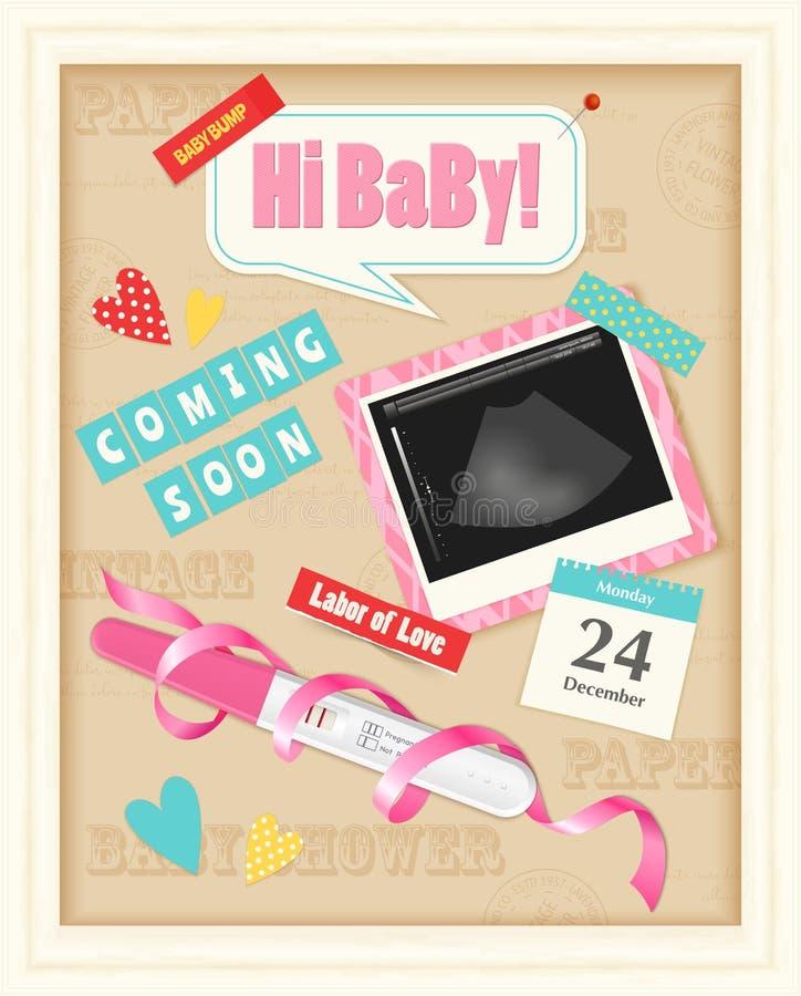 Λεύκωμα απορρίματος μωρών ρεαλιστικό απεικόνιση αποθεμάτων