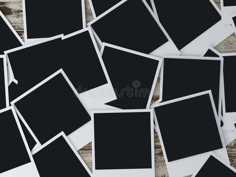Λεύκωμα φωτογραφιών φωτογραφίας φωτογραφιών φωτογραφιών Polaroid Polaroid διανυσματική απεικόνιση