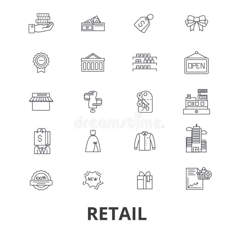 Λιανικά σχετικά εικονίδια απεικόνιση αποθεμάτων