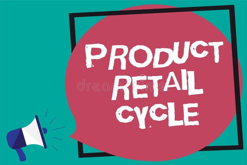 Λιανικός κύκλος προϊόντων κειμένων γραφής Η έννοια έννοιας καθώς το εμπορικό σήμα προχωρεί μέσω της ακολουθίας σταδίων πλαισίωσε  ελεύθερη απεικόνιση δικαιώματος