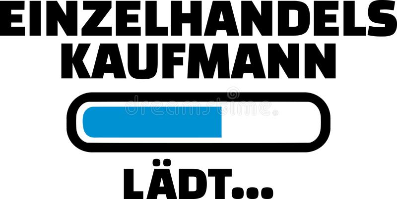 Λιανικός φραγμός γερμανικά φόρτωσης πωλητών απεικόνιση αποθεμάτων