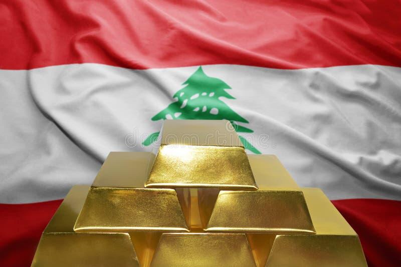Λιβανέζικες χρυσές επιφυλάξεις στοκ εικόνα