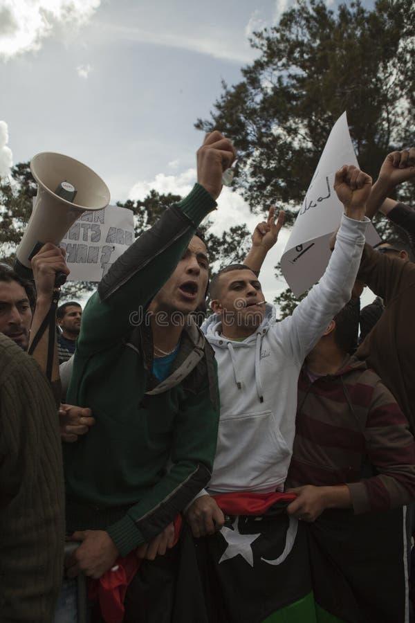 λιβυκή διαμαρτυρία πρεσ&be στοκ φωτογραφίες με δικαίωμα ελεύθερης χρήσης