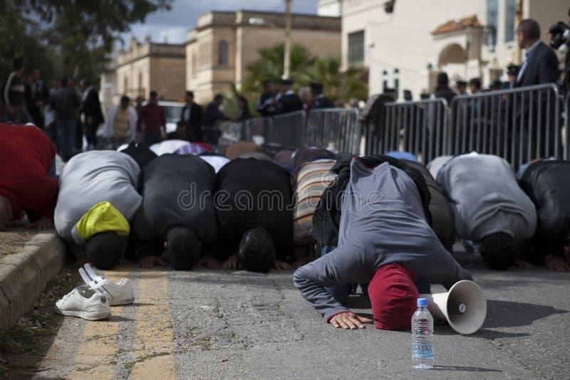 λιβυκή διαμαρτυρία πρεσ&be στοκ φωτογραφία