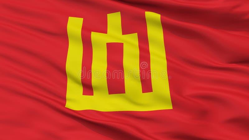 Λιθουανική άποψη κινηματογραφήσεων σε πρώτο πλάνο σημαιών στρατού ελεύθερη απεικόνιση δικαιώματος