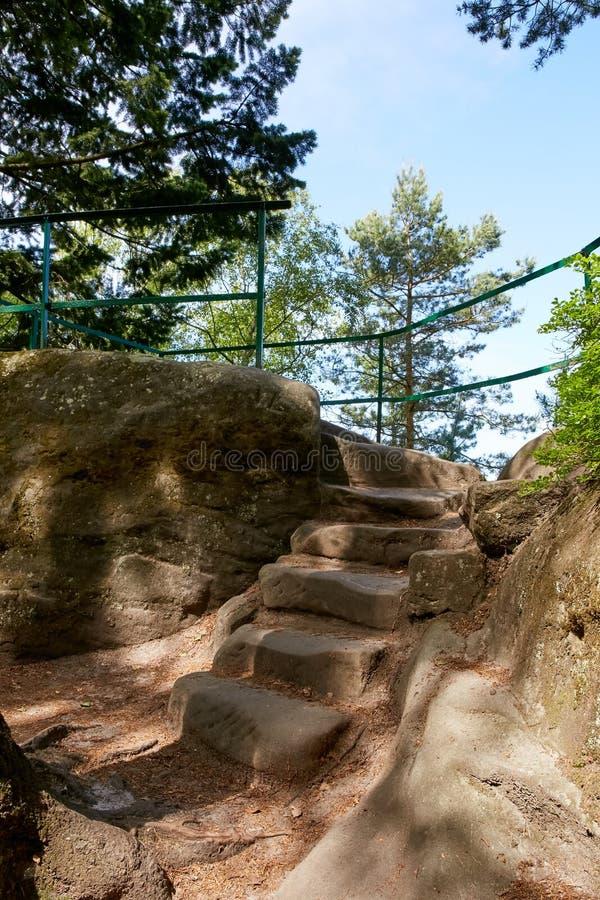 Λικνίζει κοντά σε Mala Skala στο Βοημίας παράδεισο στοκ εικόνες