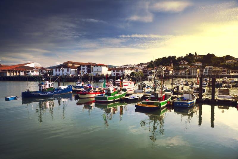Λιμάνι Αγίου Jean de Luz στη Γαλλία στοκ φωτογραφία με δικαίωμα ελεύθερης χρήσης