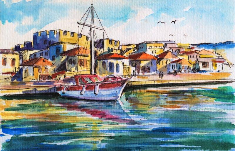 λιμάνι βαρκών ελεύθερη απεικόνιση δικαιώματος