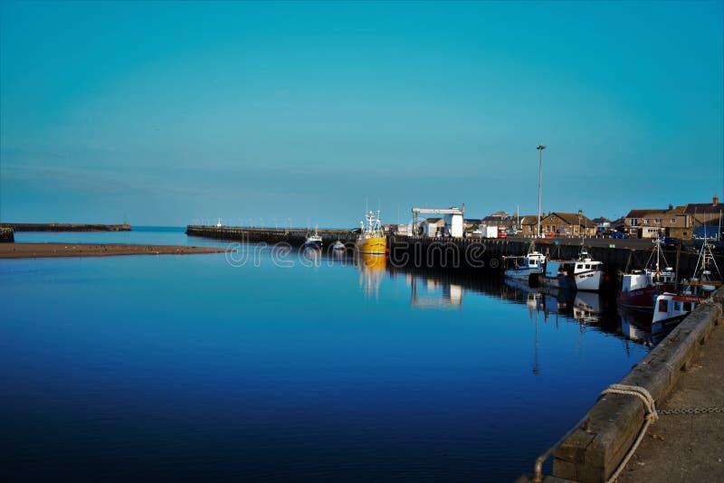 Λιμάνι βηματισμών στη Northumberland UK στοκ φωτογραφία με δικαίωμα ελεύθερης χρήσης
