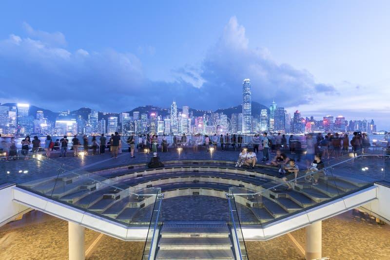 Λιμάνι Βικτώριας της πόλης Χονγκ Κονγκ στοκ εικόνα