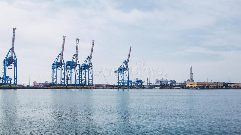 Λιμάνι Γένοβα Ιταλία στοκ εικόνα με δικαίωμα ελεύθερης χρήσης