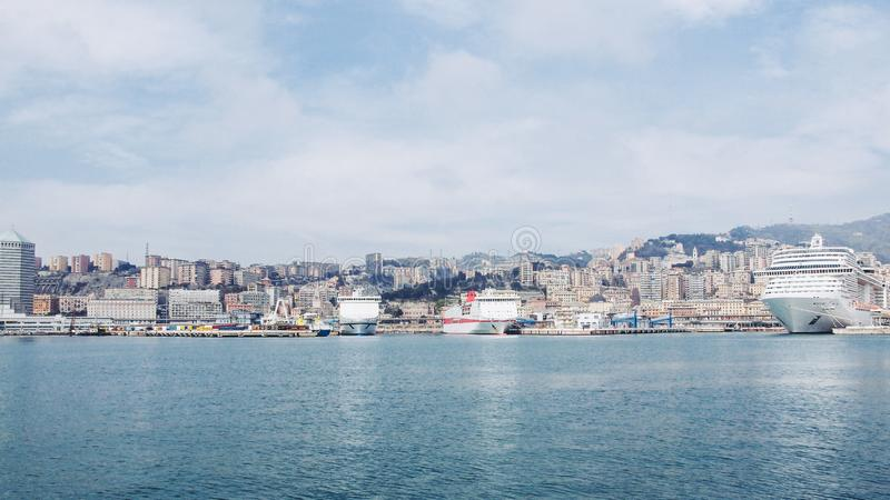 Λιμάνι Γένοβα Ιταλία στοκ φωτογραφίες με δικαίωμα ελεύθερης χρήσης