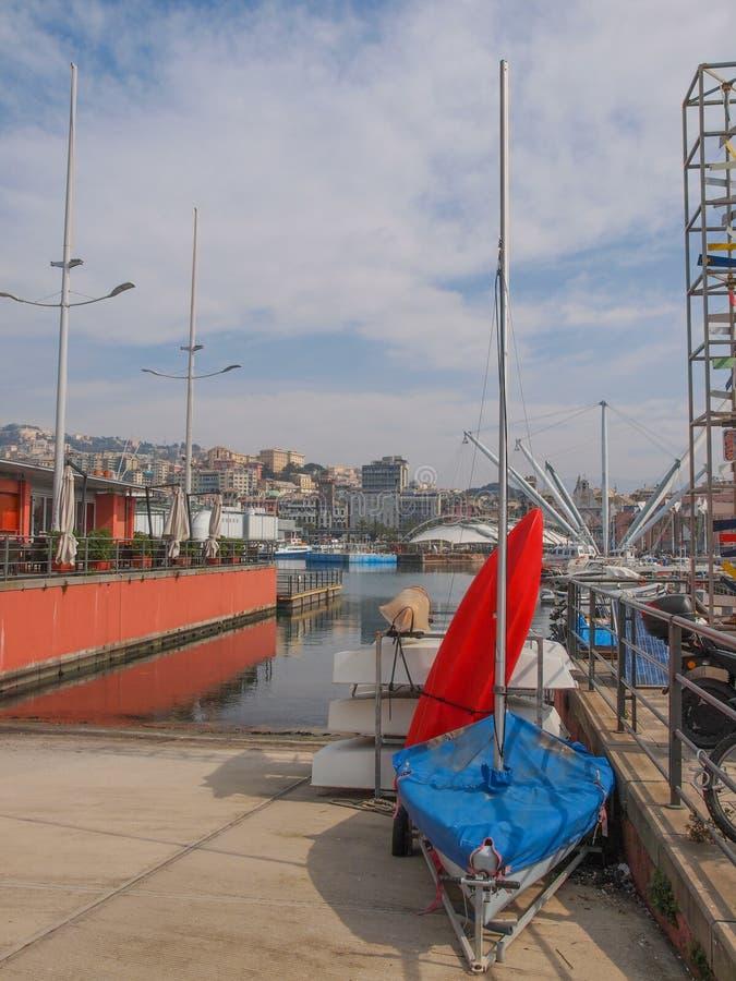 Λιμάνι Γένοβα Ιταλία στοκ φωτογραφία με δικαίωμα ελεύθερης χρήσης