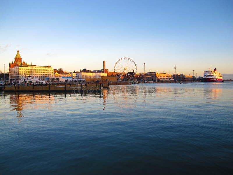λιμάνι Ελσίνκι Χειμώνας στοκ φωτογραφία με δικαίωμα ελεύθερης χρήσης