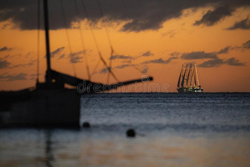 Λιμάνι ηλιοβασιλέματος στοκ εικόνα με δικαίωμα ελεύθερης χρήσης