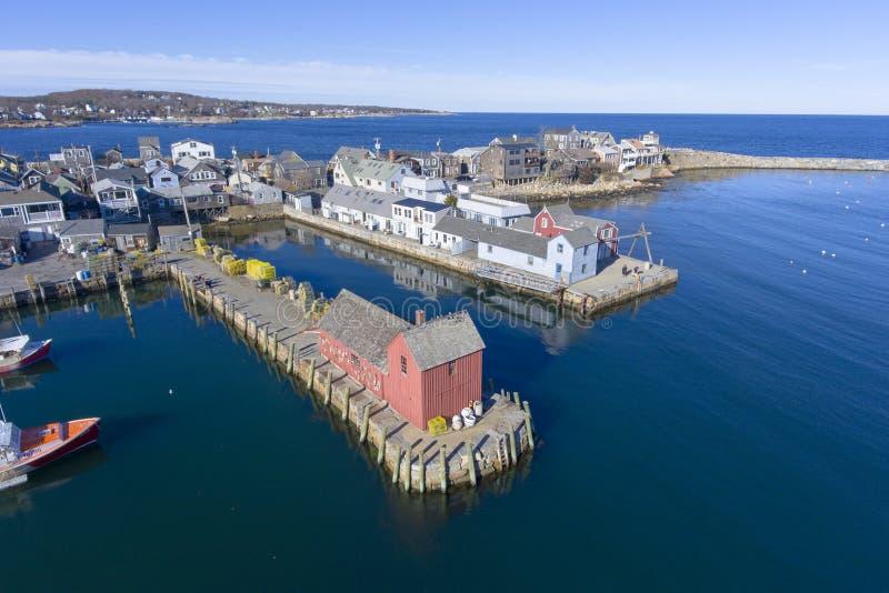 Λιμάνι και μοτίβο αριθμός 1, μΑ, ΗΠΑ Rockport στοκ εικόνες με δικαίωμα ελεύθερης χρήσης