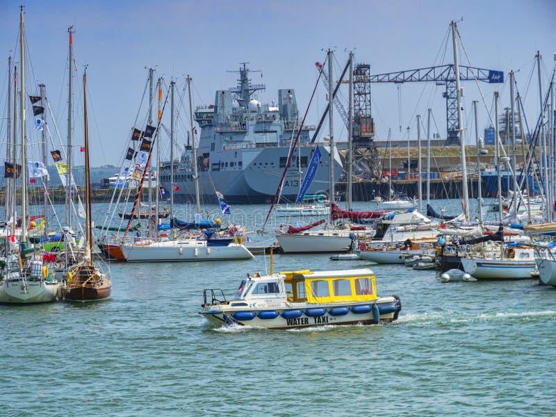 Λιμάνι Κορνουάλλη UK Falmouth στοκ φωτογραφίες με δικαίωμα ελεύθερης χρήσης