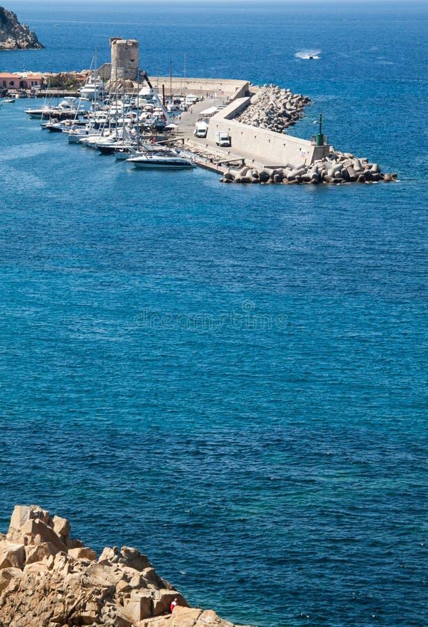 Λιμάνι μαρινών Marciana, νησί της Έλβας, στοκ φωτογραφίες με δικαίωμα ελεύθερης χρήσης