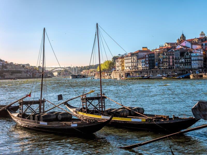 Λιμάνι με τις βάρκες - Πόρτο, Πορτογαλία στοκ φωτογραφία με δικαίωμα ελεύθερης χρήσης