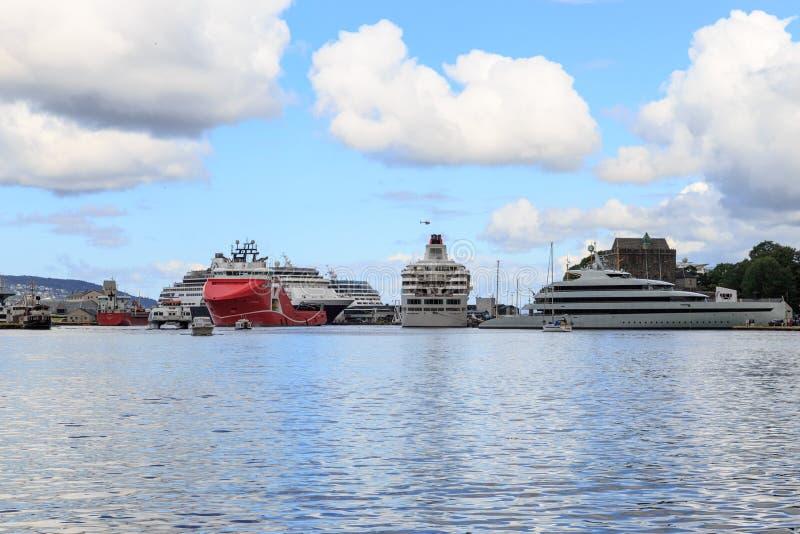 Λιμάνι Μπέργκεν, Νορβηγία στοκ φωτογραφία με δικαίωμα ελεύθερης χρήσης