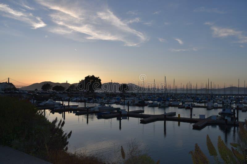 Λιμάνι Σαν Φρανσίσκο γιοτ στοκ εικόνα με δικαίωμα ελεύθερης χρήσης