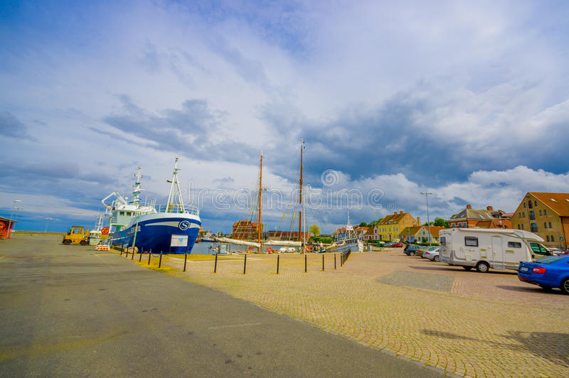Λιμάνι σε Simrishamn, Σουηδία στοκ φωτογραφία
