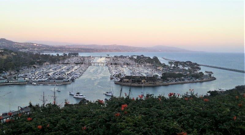 Λιμάνι σημείου της Dana στο ηλιοβασίλεμα στοκ εικόνες