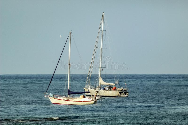 Λιμάνι στη παραθεριστική πόλη Los Cristianos Tenerife, Κανάρια νησιά, Ισπανία στοκ εικόνες