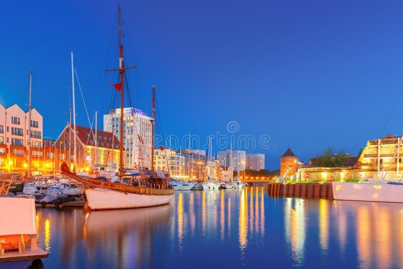 Λιμάνι στον ποταμό Motlawa, Γντανσκ, Πολωνία στοκ εικόνα με δικαίωμα ελεύθερης χρήσης