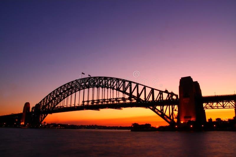 λιμάνι Σύδνεϋ αυγής γεφυρών στοκ φωτογραφίες με δικαίωμα ελεύθερης χρήσης