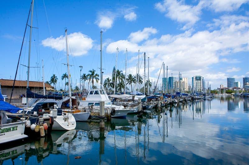 Λιμάνι της ΑΛΑ Wai, Χονολουλού, Oahu, Χαβάη στοκ εικόνες