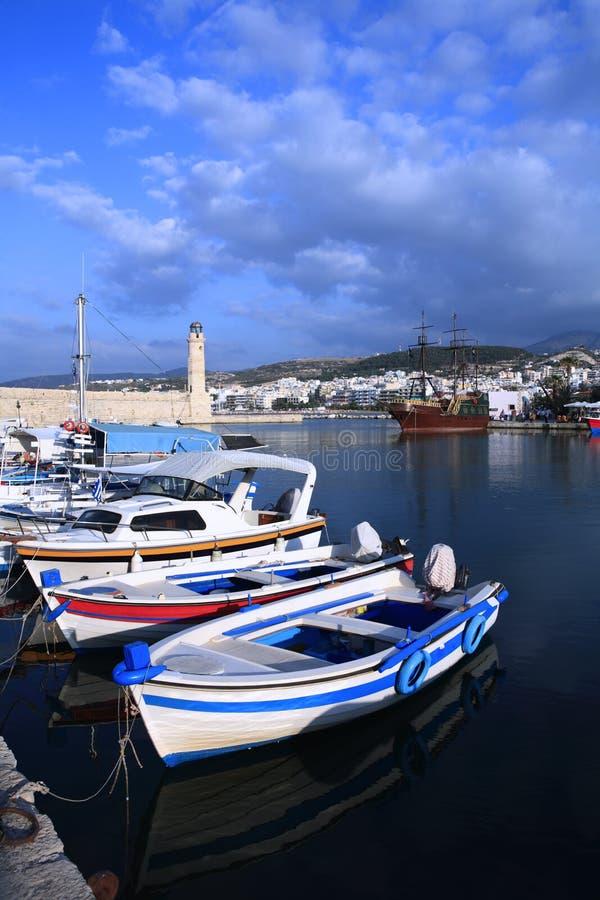 λιμάνι της Κρήτης rethymon στοκ φωτογραφίες