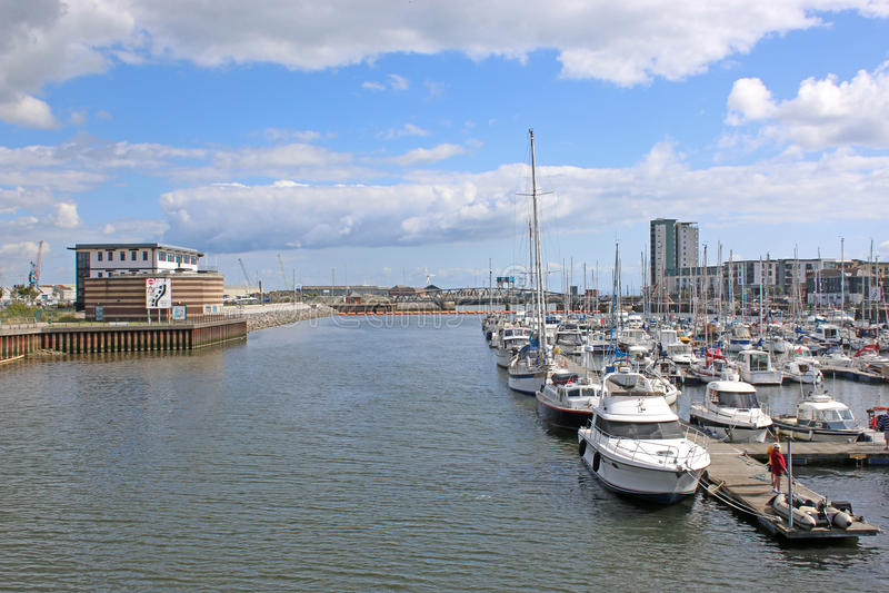 Λιμάνι του Σουώνση, Ουαλία στοκ εικόνες με δικαίωμα ελεύθερης χρήσης