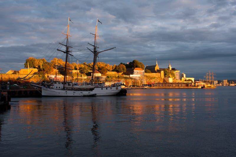 Λιμάνι του Όσλο στοκ εικόνα με δικαίωμα ελεύθερης χρήσης