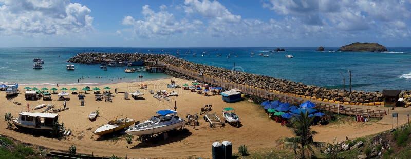Λιμάνι του Antonio Santo, Fernando de Noronha, Βραζιλία στοκ εικόνα