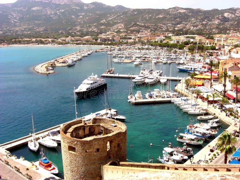 λιμάνι του Calvi στοκ φωτογραφία με δικαίωμα ελεύθερης χρήσης