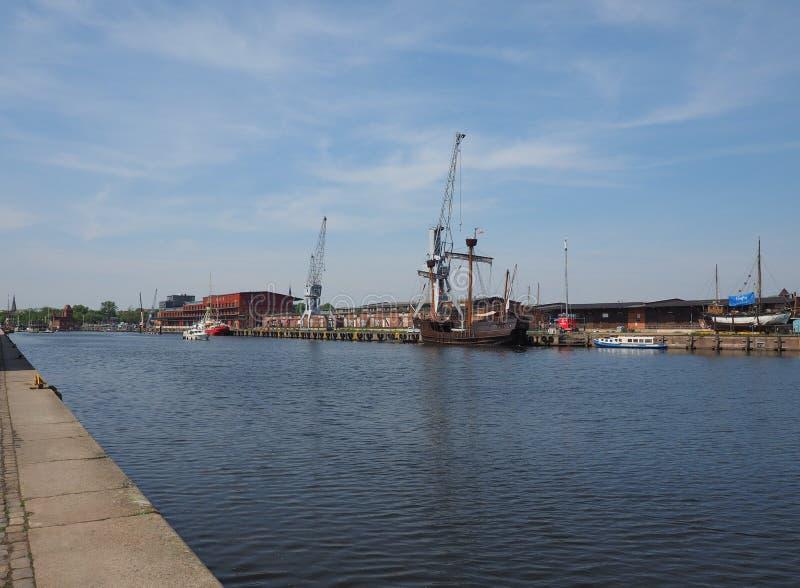 Λιμάνι Hansahafen σε Luebeck στοκ φωτογραφίες με δικαίωμα ελεύθερης χρήσης