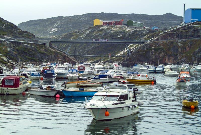 Λιμάνι Ilullisat, Γροιλανδία στοκ εικόνες