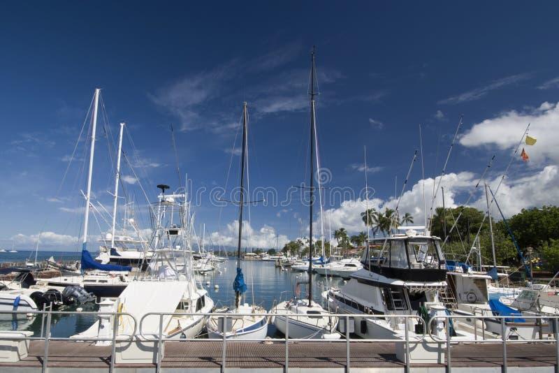 Λιμάνι Lahaina, Maui, Χαβάη στοκ φωτογραφίες με δικαίωμα ελεύθερης χρήσης