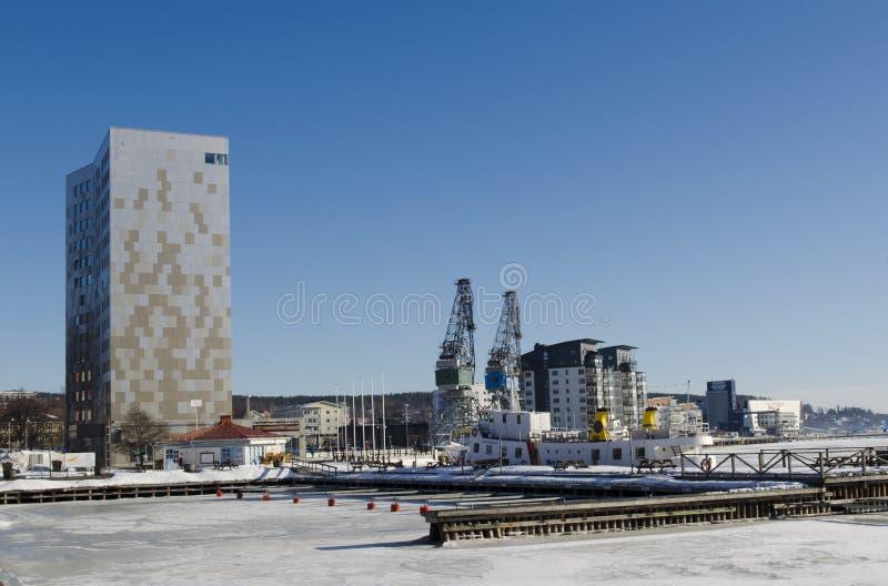 Λιμάνι Ornskoldsvik στοκ φωτογραφία με δικαίωμα ελεύθερης χρήσης