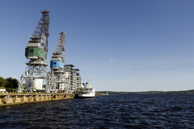 Λιμάνι Ornskoldsvik στοκ φωτογραφίες