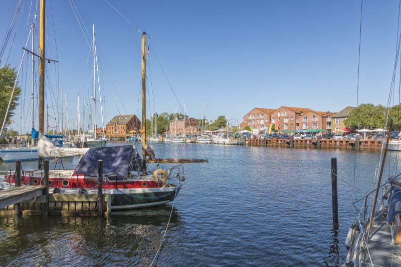 Λιμάνι Orth, νησί Fehmarn στοκ φωτογραφίες