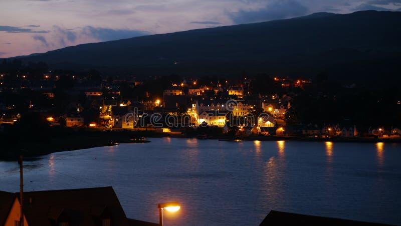 Λιμάνι Portree τη νύχτα στοκ φωτογραφία με δικαίωμα ελεύθερης χρήσης