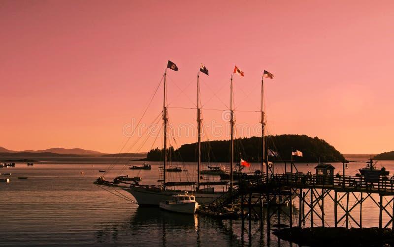 λιμάνι s χαραυγών ράβδων στοκ φωτογραφίες με δικαίωμα ελεύθερης χρήσης