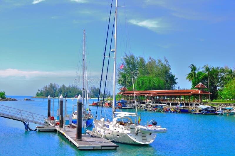 Λιμάνι Telaga και αποβάθρα βαρκών Perdana στοκ εικόνες με δικαίωμα ελεύθερης χρήσης